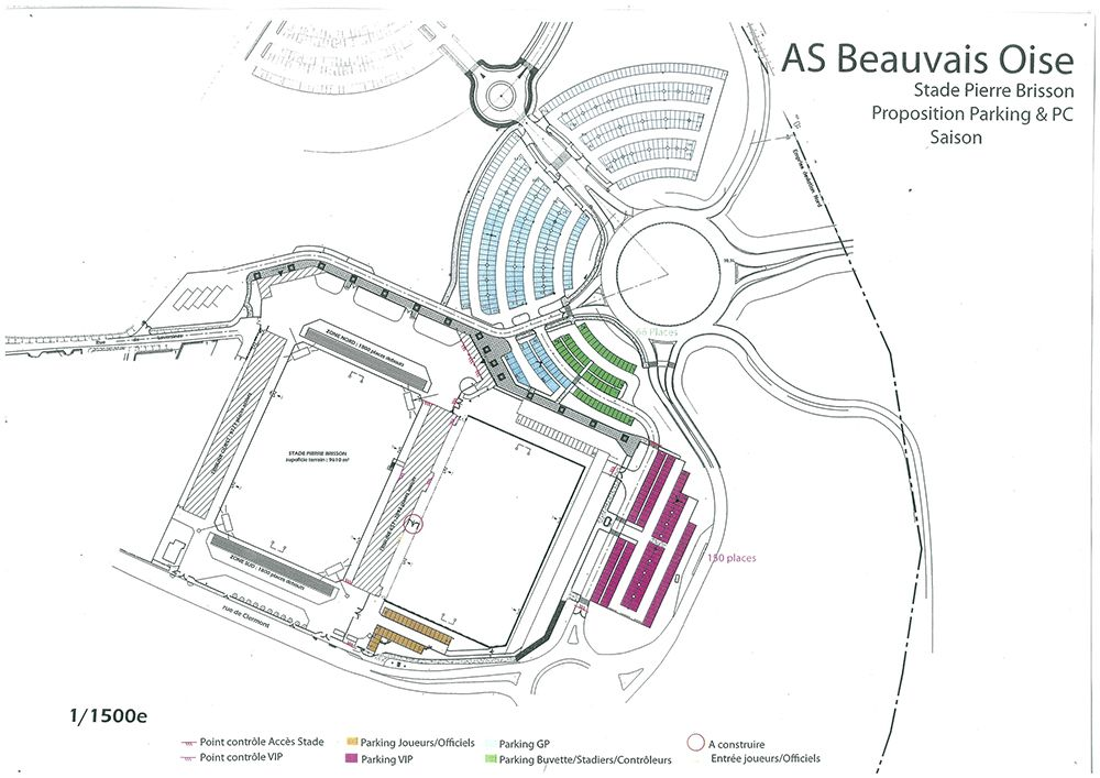 Plan du Stade Pierre Brisson